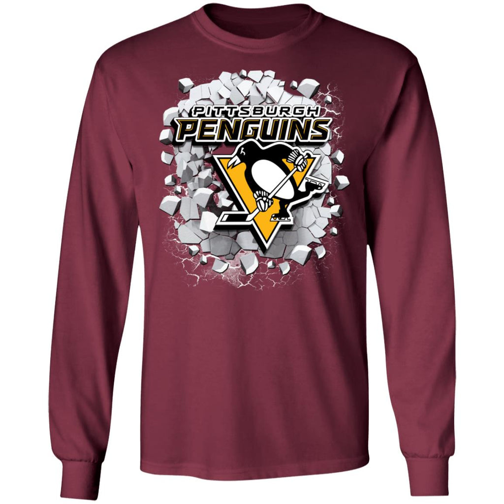 Amazing Earthquake Art Pittsburgh Penguins T Shirt