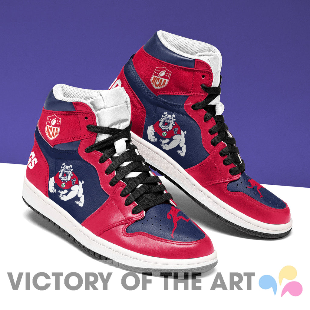 Simple Logo Fresno State Bulldogs Jordan Shoes