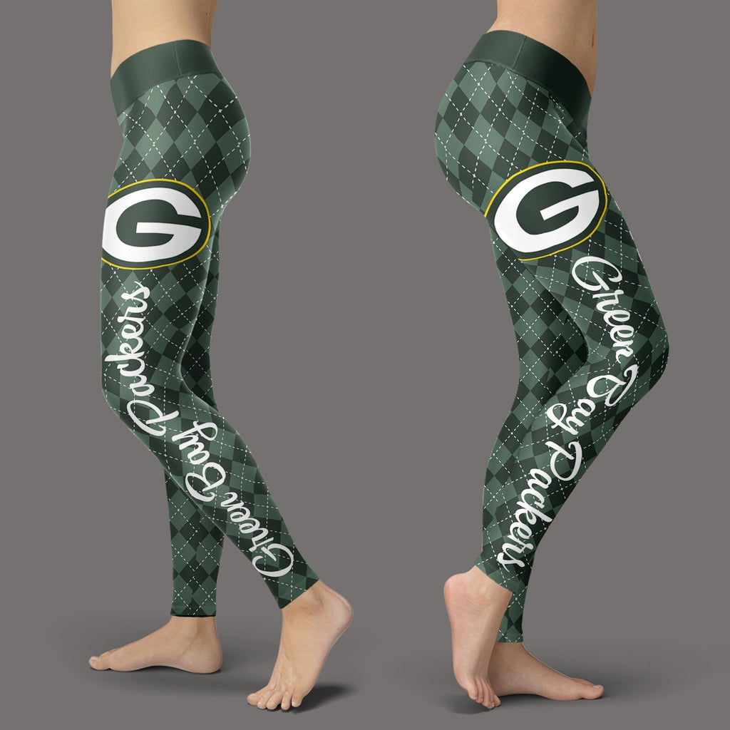Cosy Seamless Colorful Green Bay Packers Leggings