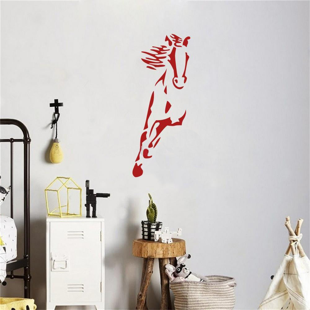 Wild Running Horse Wall Stickers