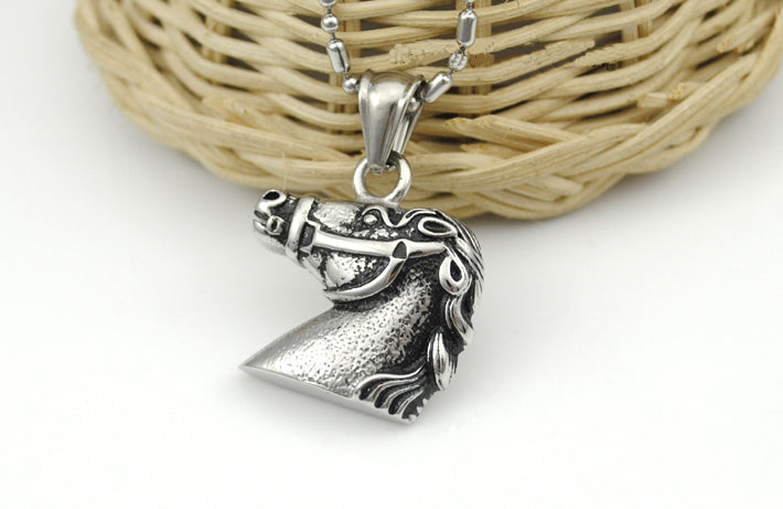 Horse Head Silver Necklaces