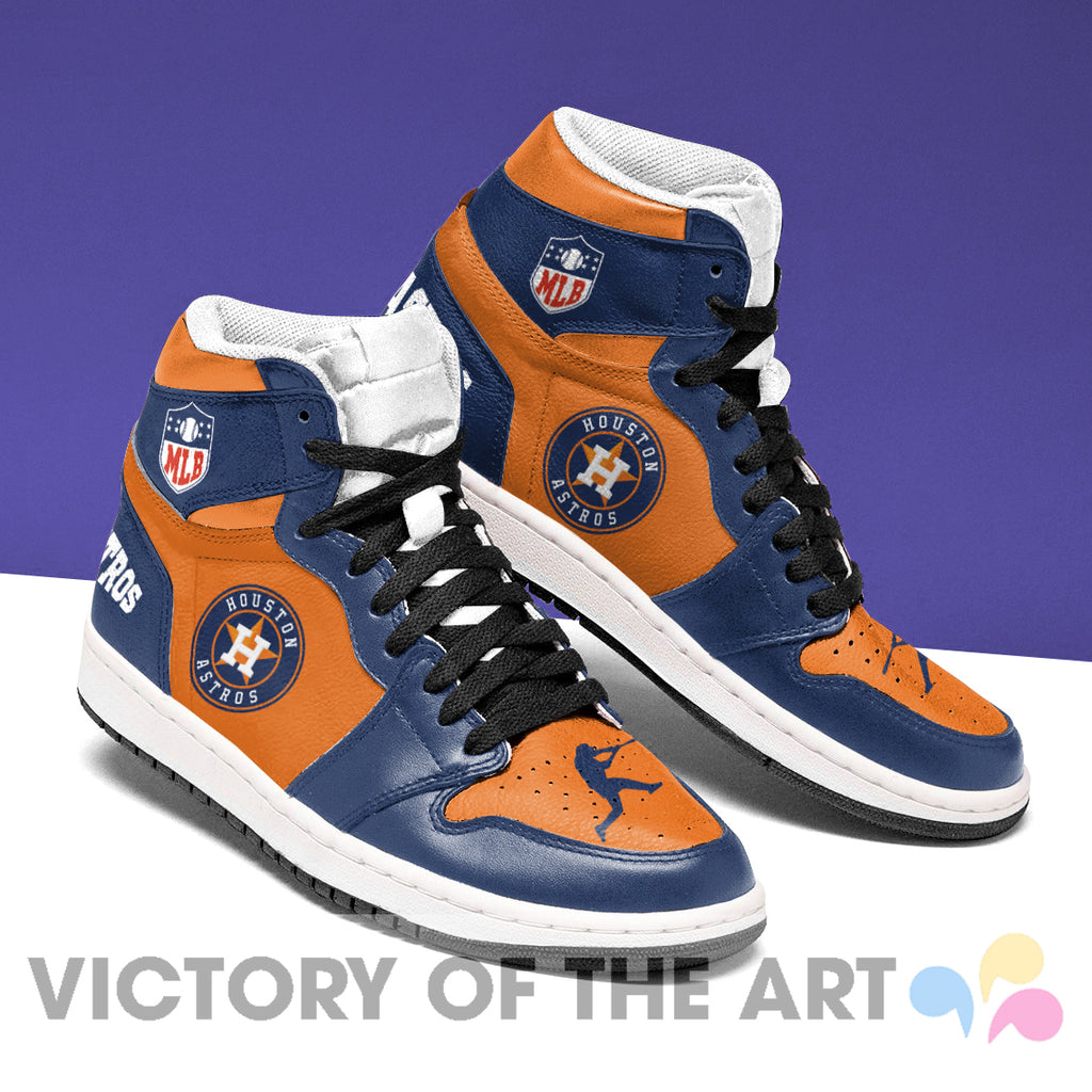 Simple Logo Houston Astros Jordan Shoes