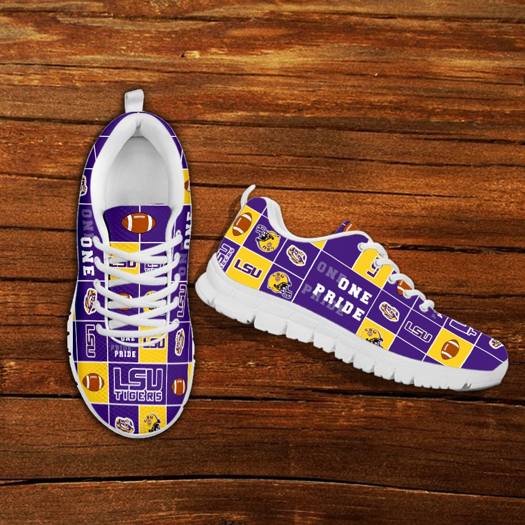 Awesome Pride Flag LSU Tigers Sneakers
