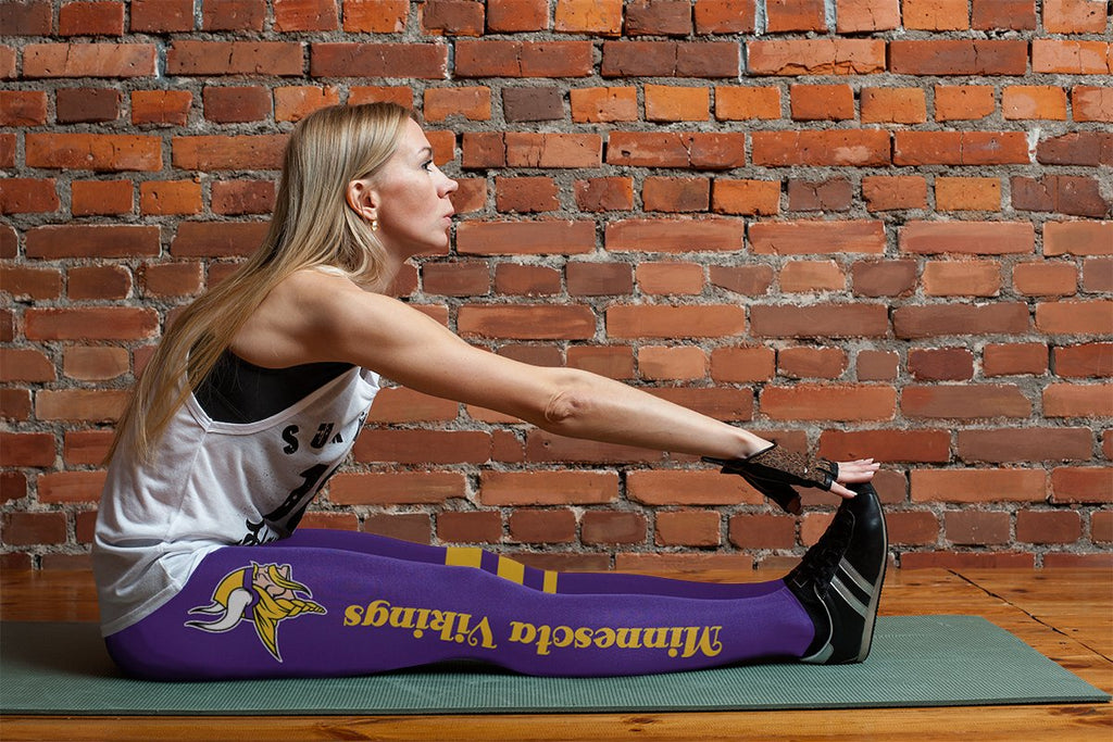 Through Logo Spread Body Striped Circle Minnesota Vikings Leggings