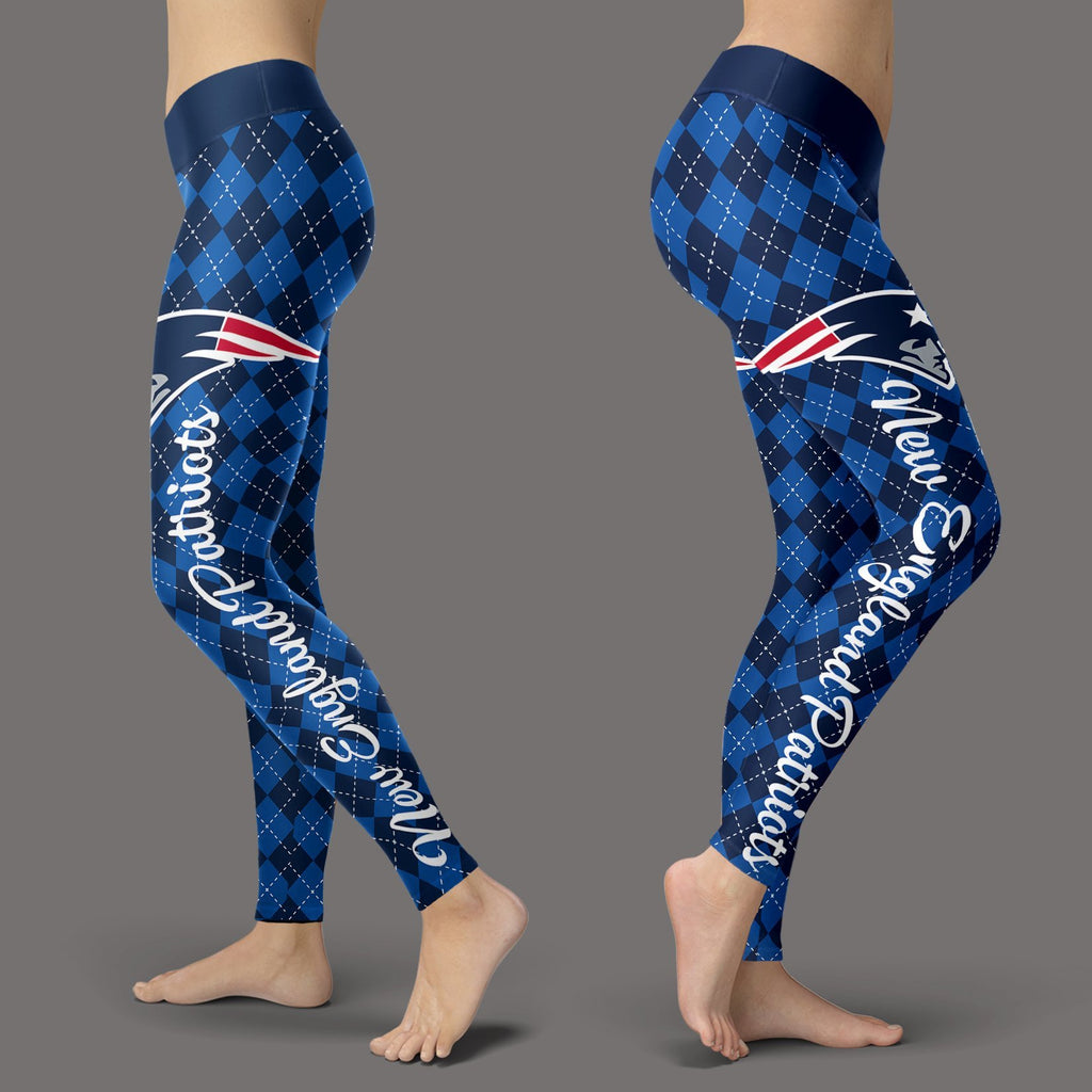 Cosy Seamless Colorful New England Patriots Leggings