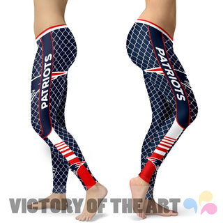 Amazing Line Circle Stylish Fashion New England Patriots Leggings