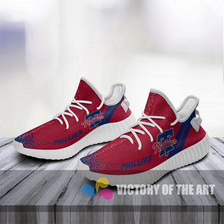 Simple Logo Philadelphia Phillies Sneakers As Special Shoes