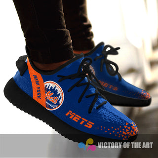 Simple Logo New York Mets Sneakers As Special Shoes
