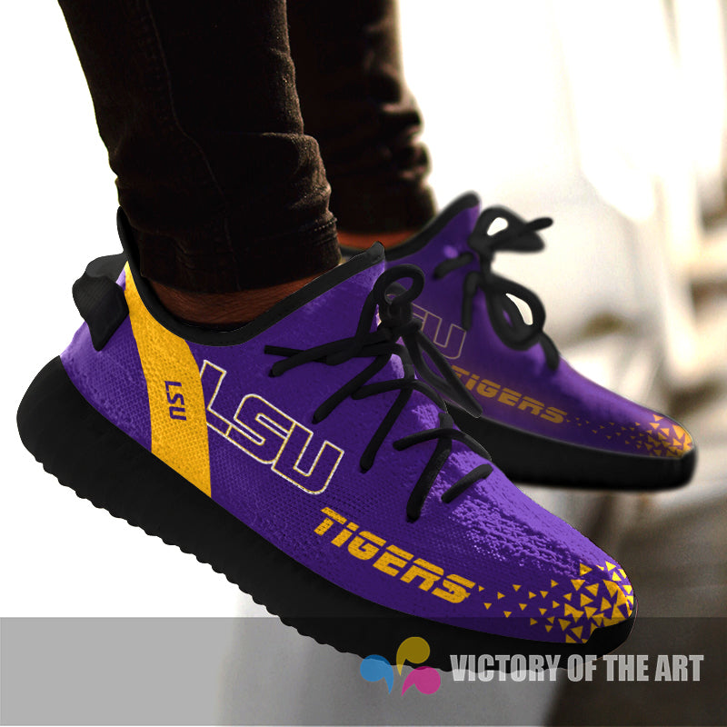 Simple Logo LSU Tigers Sneakers As Special Shoes