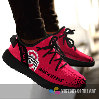 Simple Logo Ohio State Buckeyes Sneakers As Special Shoes