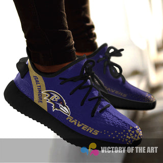 Simple Logo Baltimore Ravens Sneakers As Special Shoes