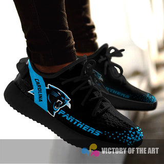Simple Logo Carolina Panthers Sneakers As Special Shoes