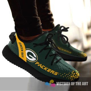 Simple Logo Green Bay Packers Sneakers As Special Shoes
