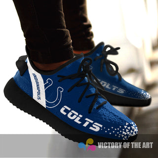 Simple Logo Indianapolis Colts Sneakers As Special Shoes