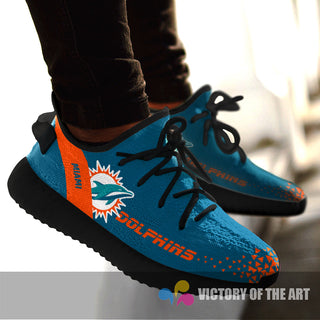 Simple Logo Miami Dolphins Sneakers As Special Shoes
