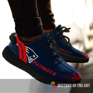 Simple Logo New England Patriots Sneakers As Special Shoes