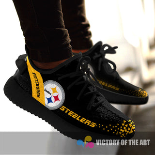 Simple Logo Pittsburgh Steelers Sneakers As Special Shoes