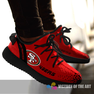 Simple Logo San Francisco 49ers Sneakers As Special Shoes