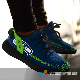 Simple Logo Seattle Seahawks Sneakers As Special Shoes