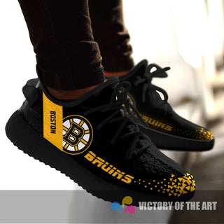 Simple Logo Boston Bruins Sneakers As Special Shoes