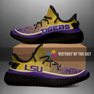 Words In Line Logo LSU Tigers Yeezy Shoes