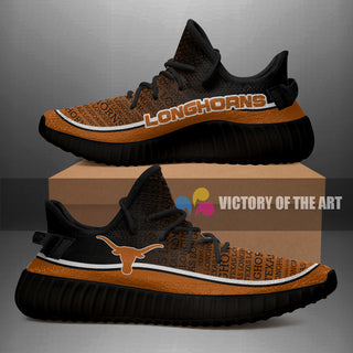 Words In Line Logo Texas Longhorns Yeezy Shoes