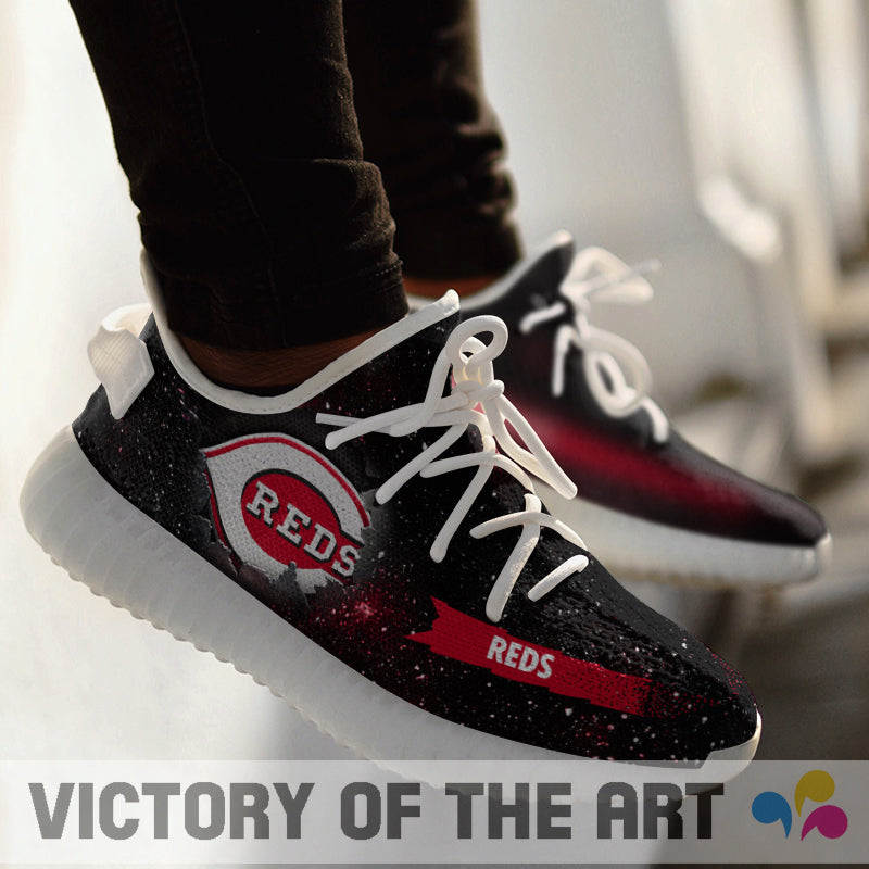 Art Scratch Mystery Cincinnati Reds Shoes Yeezy