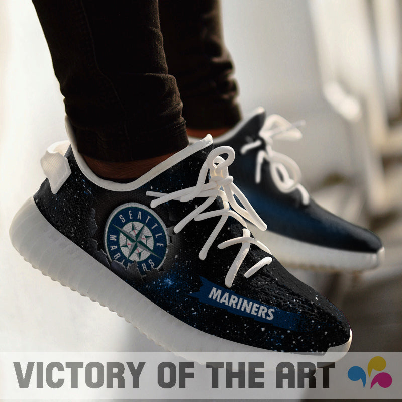 Art Scratch Mystery Seattle Mariners Shoes Yeezy