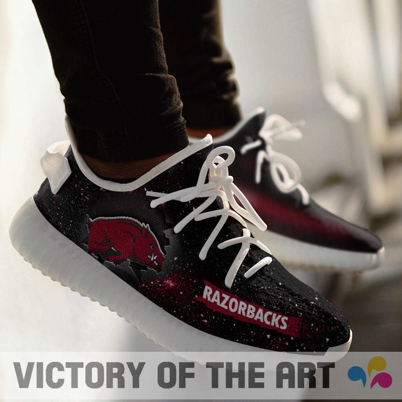 Art Scratch Mystery Arkansas Razorbacks Shoes Yeezy