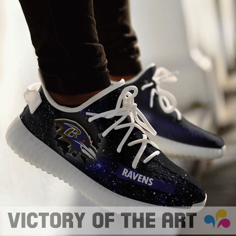 Art Scratch Mystery Baltimore Ravens Shoes Yeezy
