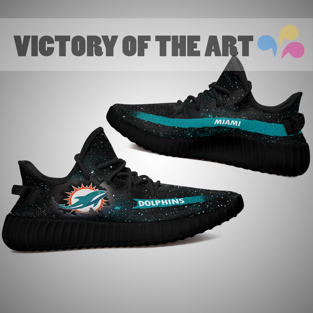 Art Scratch Mystery Miami Dolphins Shoes Yeezy