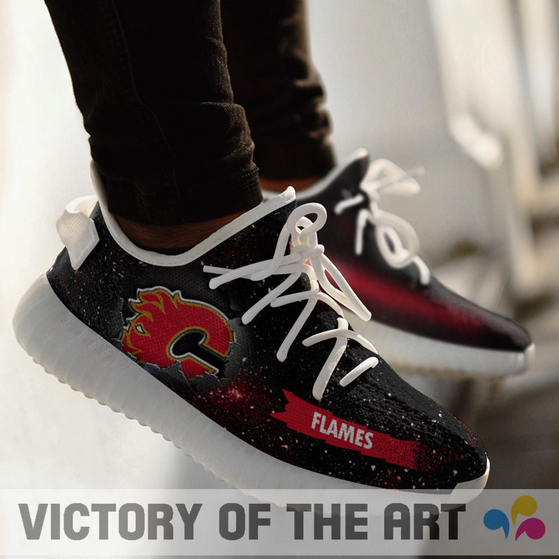 Art Scratch Mystery Calgary Flames Shoes Yeezy