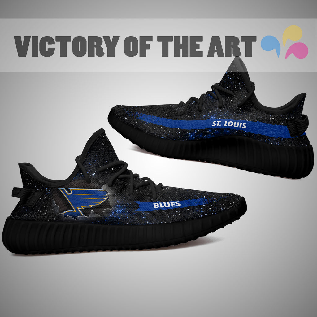 Art Scratch Mystery St. Louis Blues Shoes Yeezy