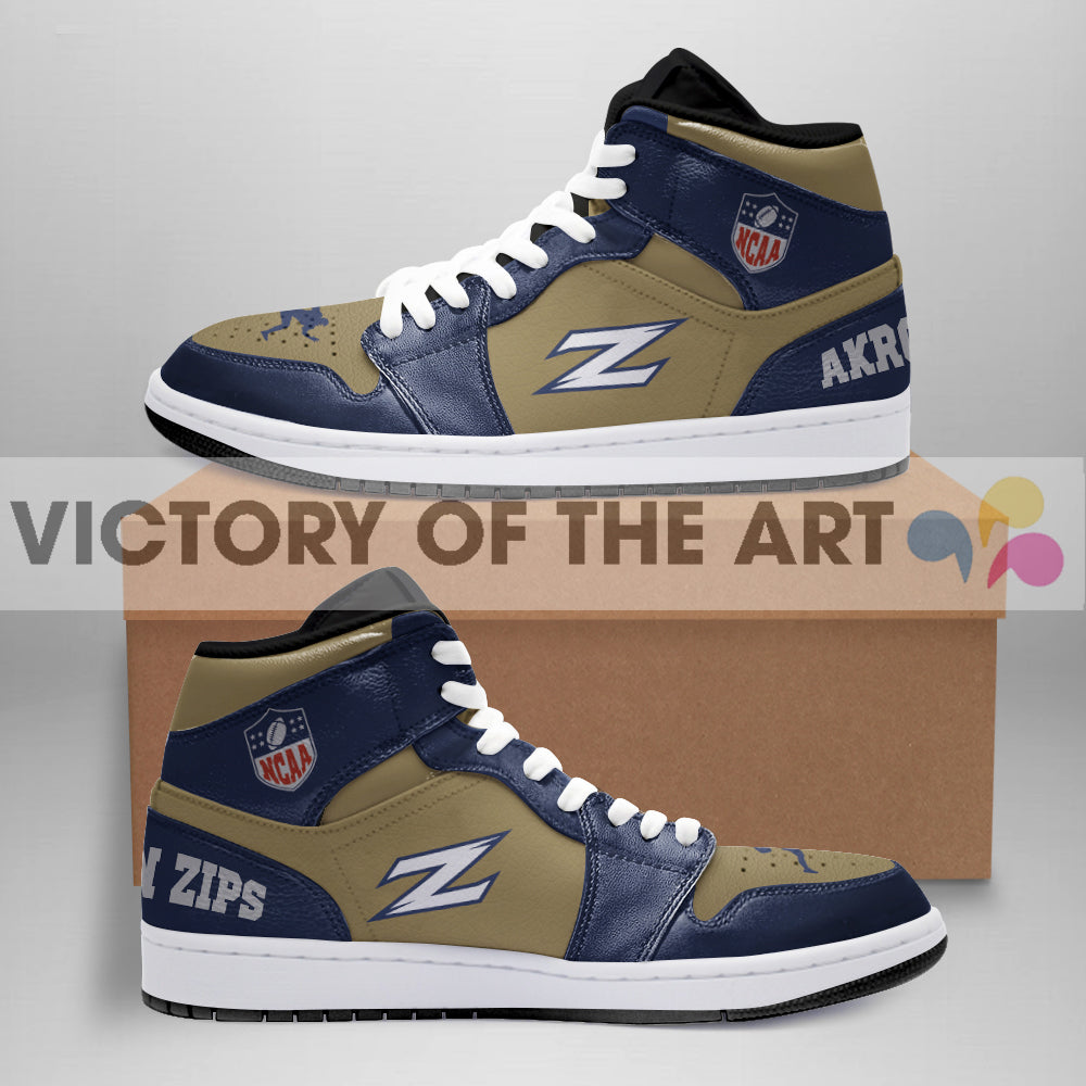 Simple Logo Akron Zips Jordan Shoes