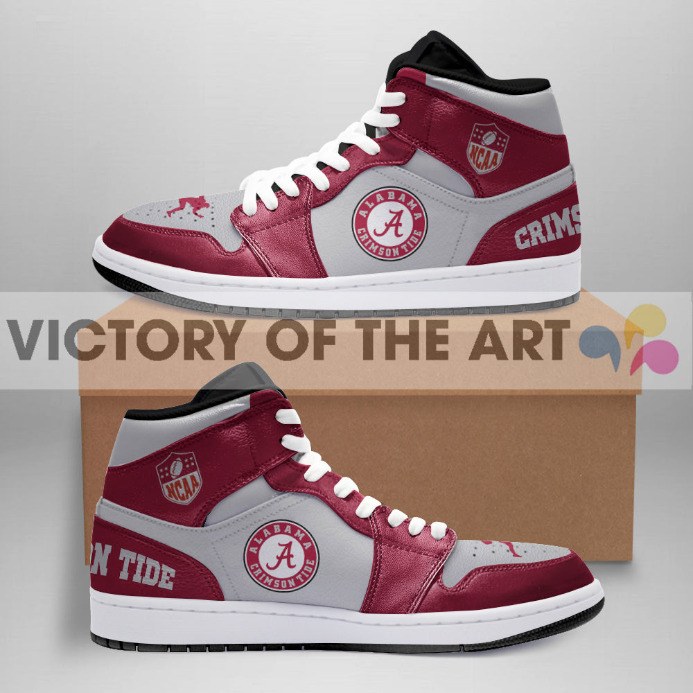 Simple Logo Alabama Crimson Tide Jordan Shoes