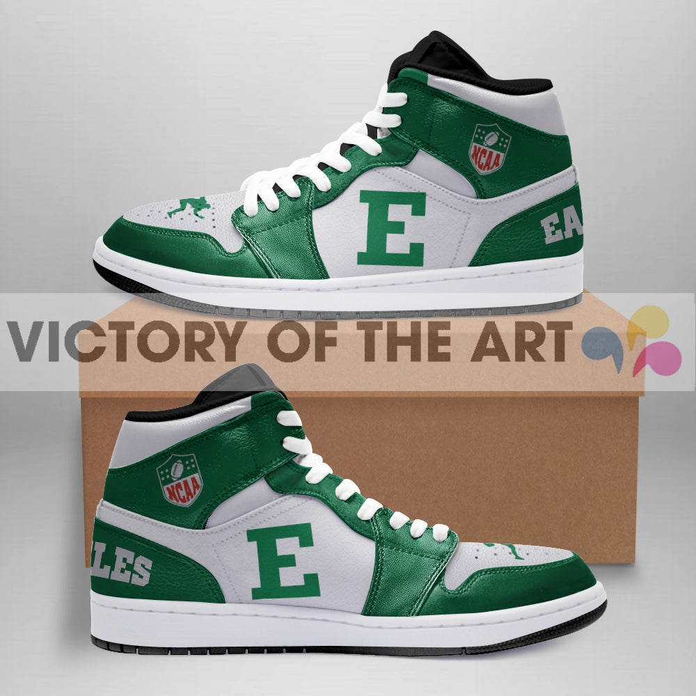 Simple Logo Eastern Michigan Eagles Jordan Shoes