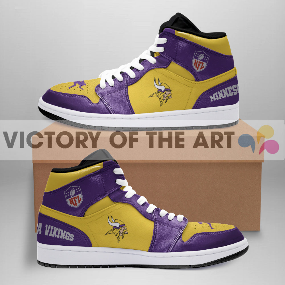 Simple Logo Minnesota Vikings Jordan Shoes