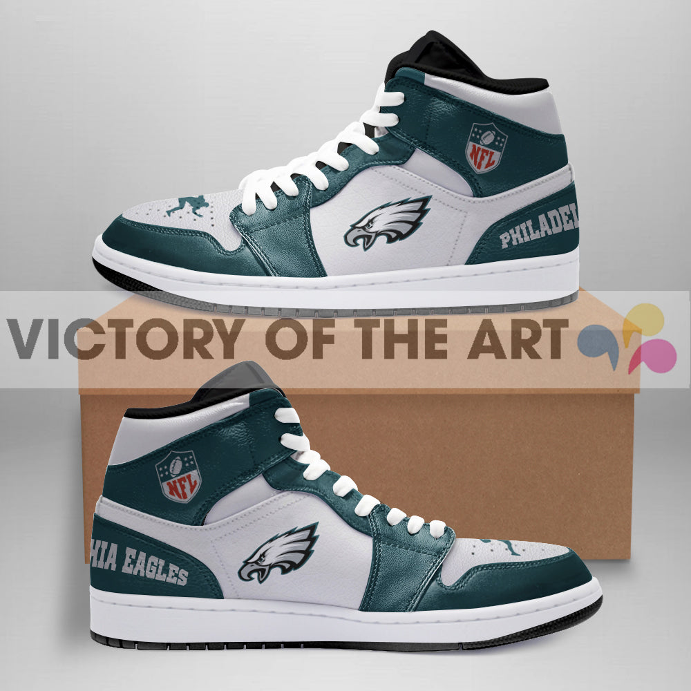 Simple Logo Philadelphia Eagles Jordan Shoes