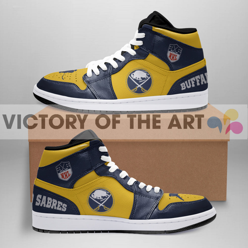 Simple Logo Buffalo Sabres Jordan Shoes