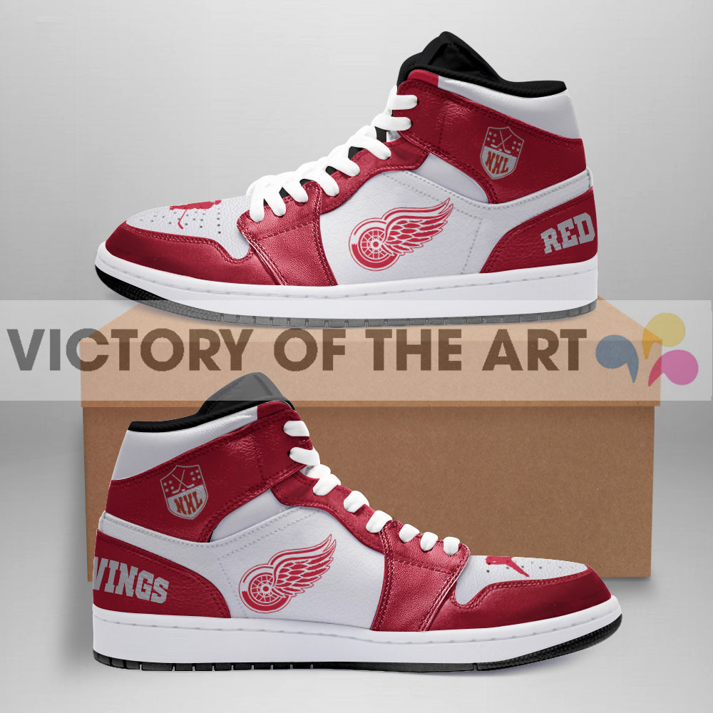 Simple Logo Detroit Red Wings Jordan Shoes