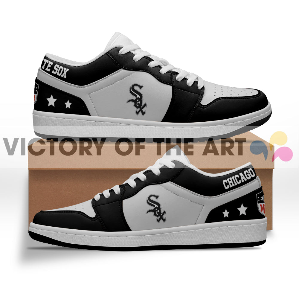 Gorgeous Simple Logo Chicago White Sox Low Jordan Shoes