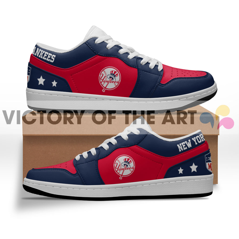 Gorgeous Simple Logo New York Yankees Low Jordan Shoes
