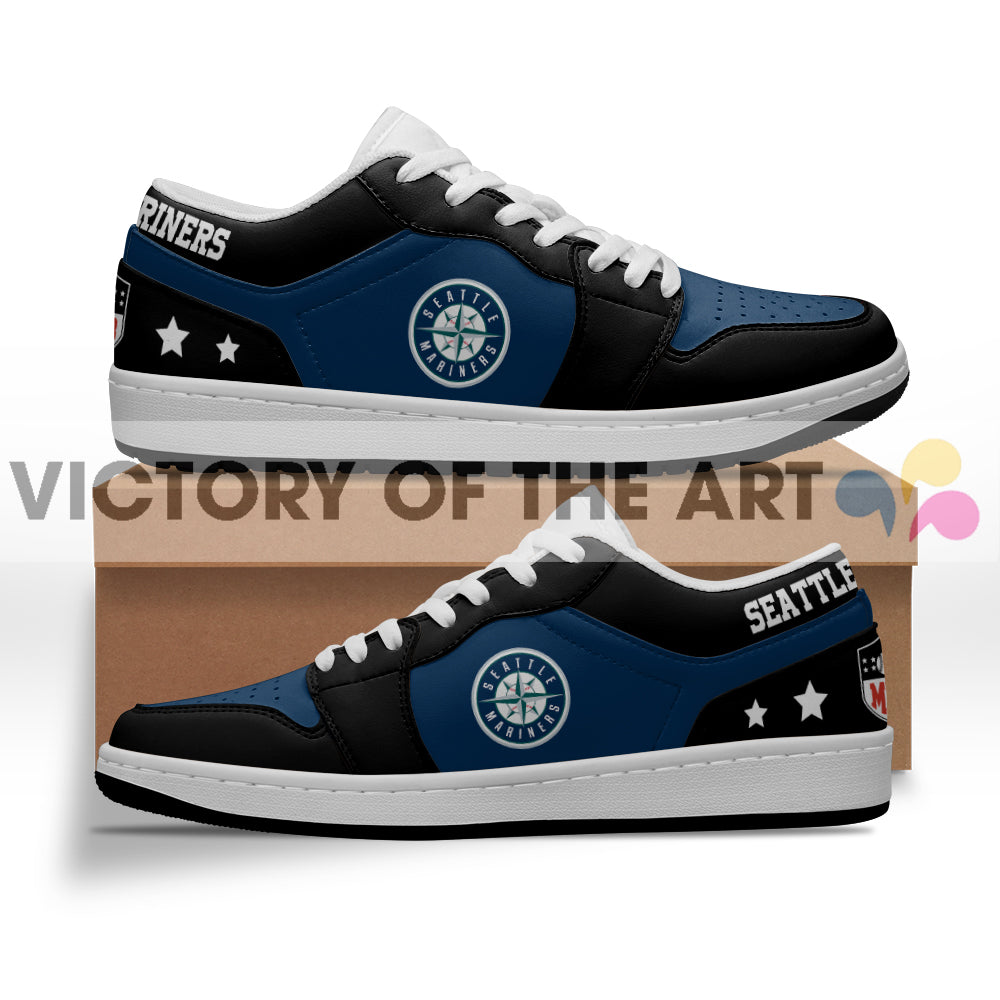Gorgeous Simple Logo Seattle Mariners Low Jordan Shoes