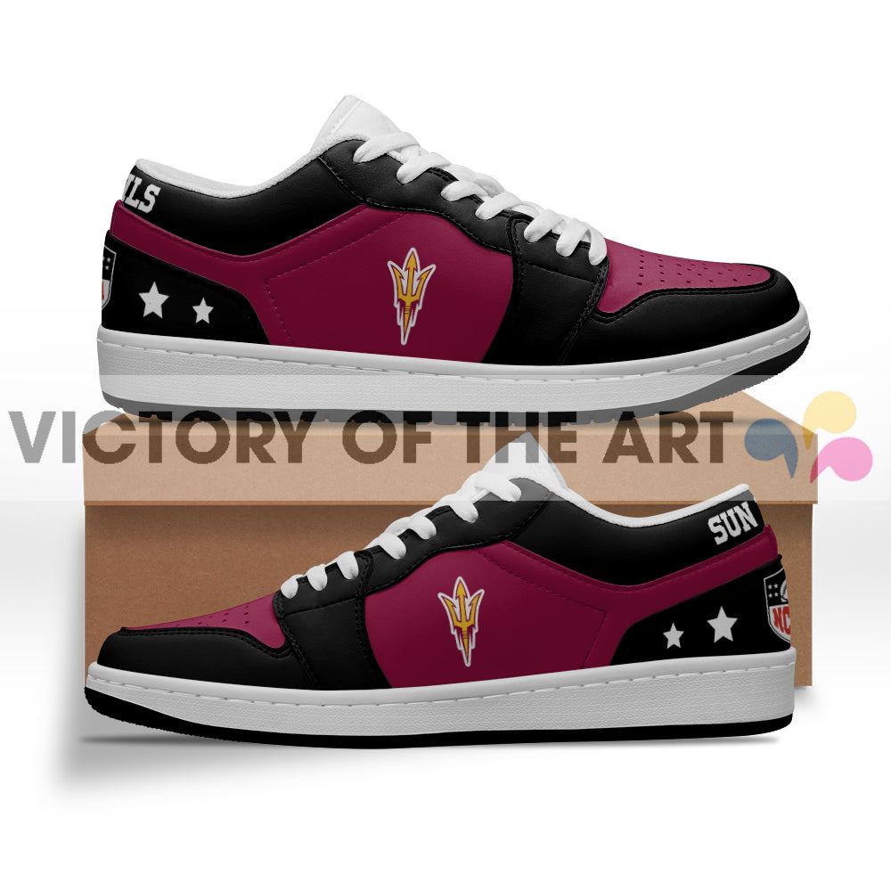 Gorgeous Simple Logo Arizona State Sun Devils Low Jordan Shoes