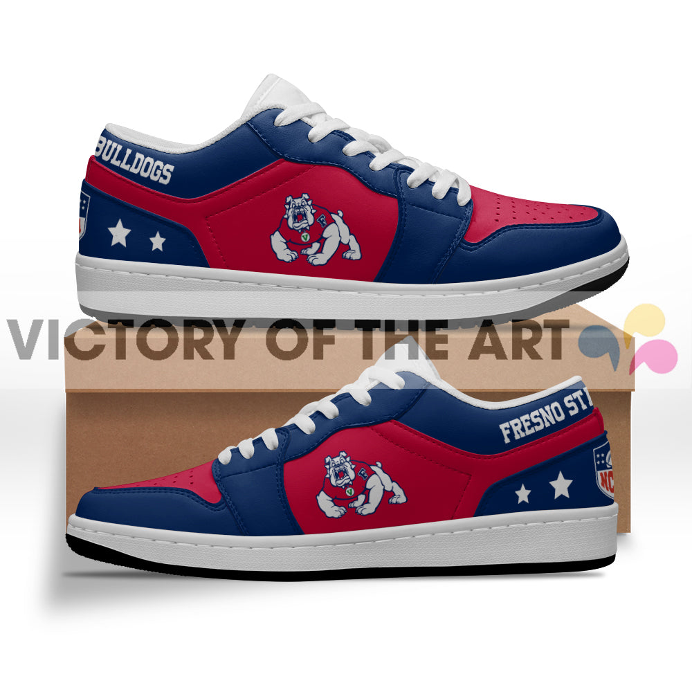 Gorgeous Simple Logo Fresno State Bulldogs Low Jordan Shoes