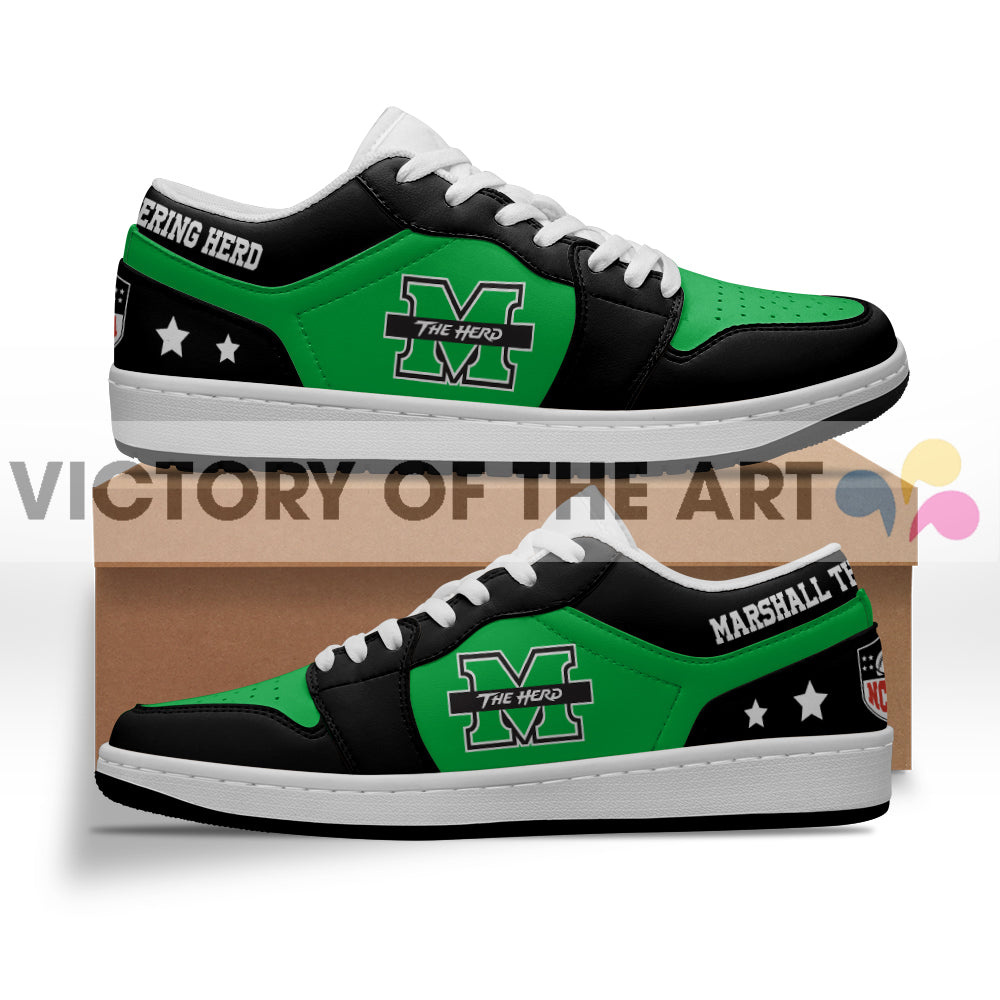 Gorgeous Simple Logo Marshall Thundering Herd Low Jordan Shoes