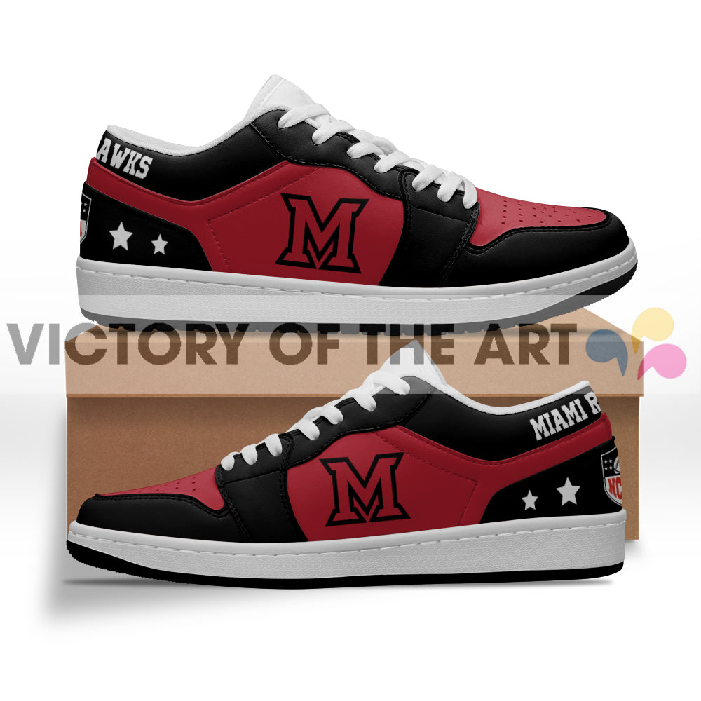 Gorgeous Simple Logo Miami RedHawks Low Jordan Shoes