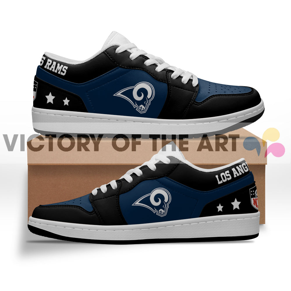Gorgeous Simple Logo Los Angeles Rams Low Jordan Shoes