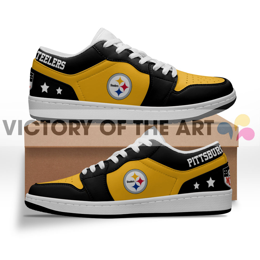 Gorgeous Simple Logo Pittsburgh Steelers Low Jordan Shoes