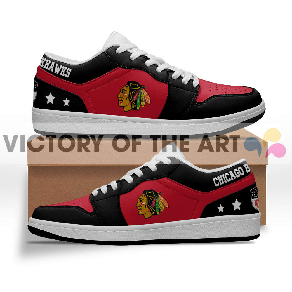 Gorgeous Simple Logo Chicago Blackhawks Low Jordan Shoes